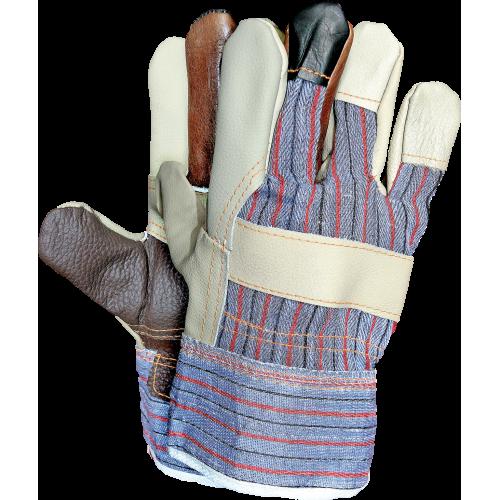 Rękawice ochronne wzmacniane skórą bydlęcą REIS RLKPAS