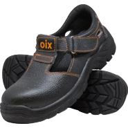 Sandały robocze ze skóry, z metalowym podnoskiem OX-OIX-S-SB