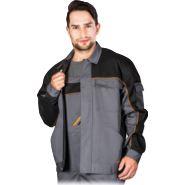 Bluza ochronna w kolorze szaro-czarno-pomarańczowym REIS PRO-J