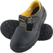 Sandały robocze ze skóry, z metalowym podnoskiem BRYES-S-SB