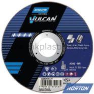 Tarcza do szlifowania metali i stali 115x6,4x22 mm, Norton A30S Vulcan METAL INOX T27